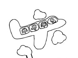 Картинки для детей самолет 2