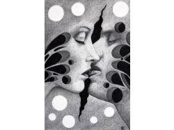 Картинки любовь черно белые 4