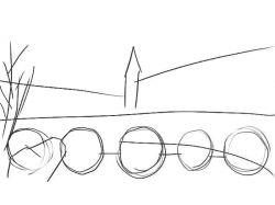 Как нарисовать город будущего 2