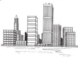 Как нарисовать город будущего 5