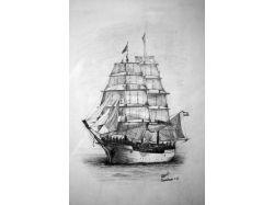 Корабль рисунок карандашом 2