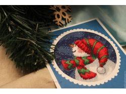 Новогодние открытки ручной работы 3