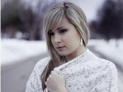 Фото зима девушка 6