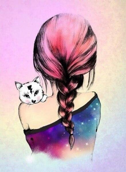 Рисованные аватарки для девушек
