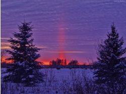 Фото зима закат 7