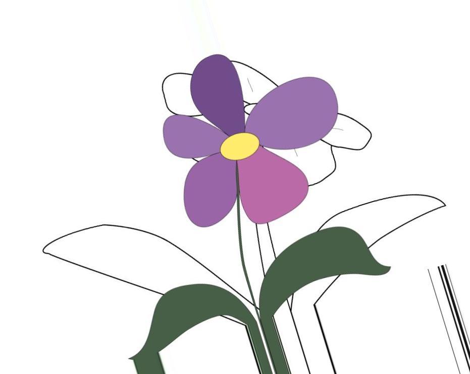 Рисунок простого цветочка