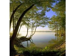 Картинки лето, рассвет над водой 1