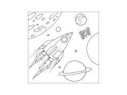 Детские картинки космос планеты 7