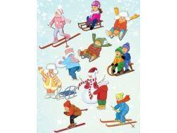 Зимние забавы дети фото 2