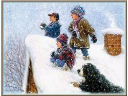 Зимние забавы дети фото 3