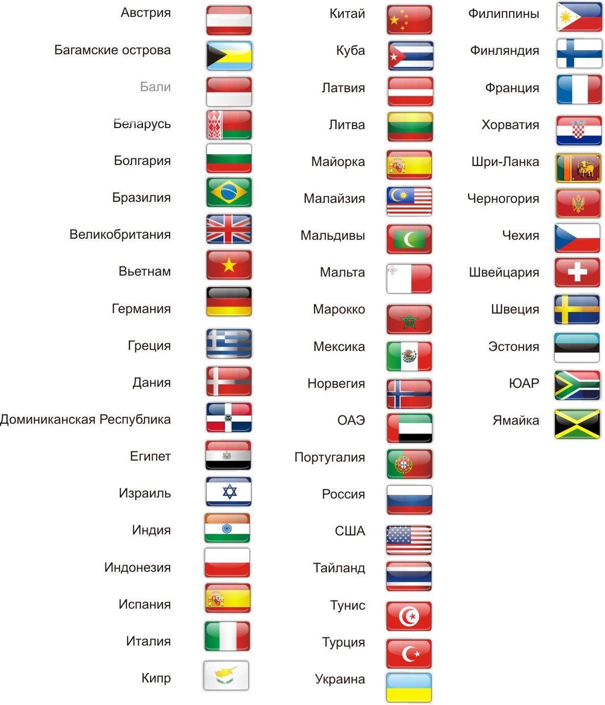флаги и их нозвание пластиковую
