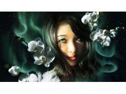 Картинки девушка и цветы