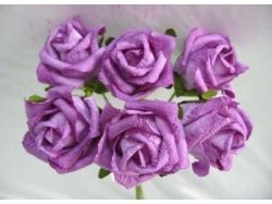 Цветы из гофрированной бумаги фото