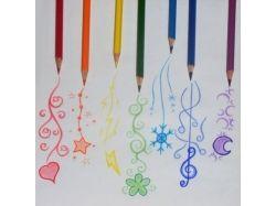 Картинки карандашами цветными цветы