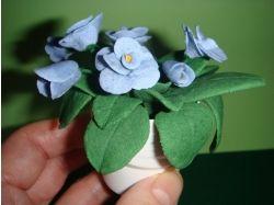 Цветы из соленого теста фото
