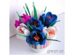 Картинки цветы из гофрированной бумаги