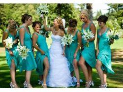 Свадьба в бирюзовом цвете фото