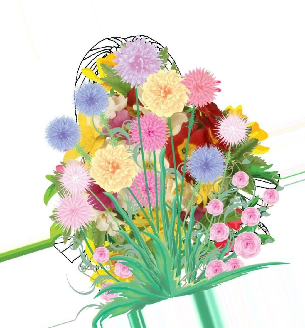 Картинки для детей с цветами, смайлики для скайпа
