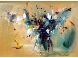 Картинки натюрморт ваза с цветами