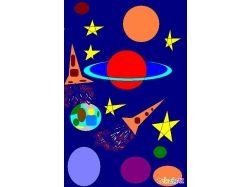 Космос рисунок