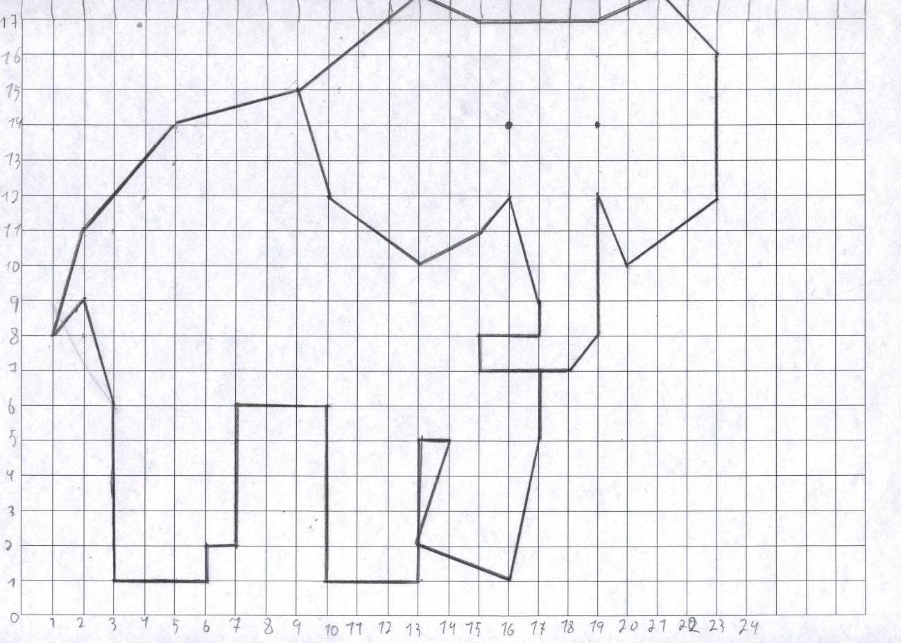 по лебедь плоскости рисунок координатной