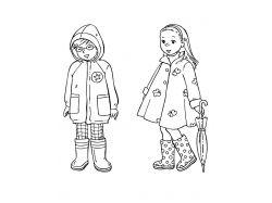 Раскраски для детей зимняя одежда