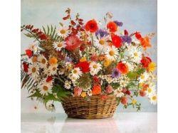 Фото букетов из полевых цветов