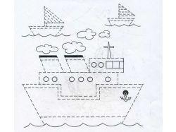 Рисунки пунктиром для детей