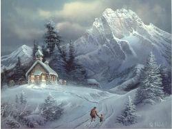 Рисунки зима в лесу