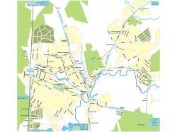 Карта города с улицами 2