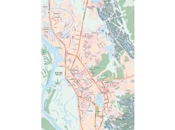 Карта города с улицами 7