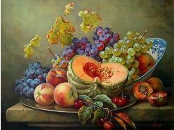 Овощи и фрукты натюрморт 6