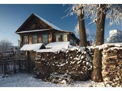 Фото зимы в деревне