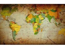 Политическая карта мира обои на рабочий стол