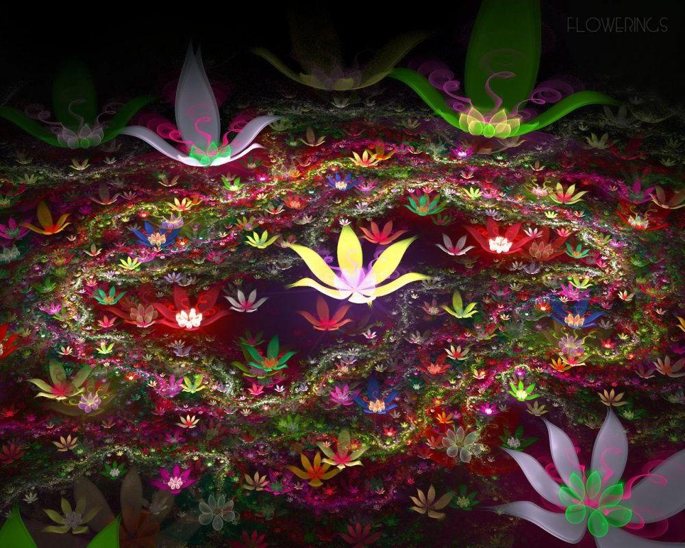 Магические картинки с цветами