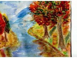 Рисунки детей про осень