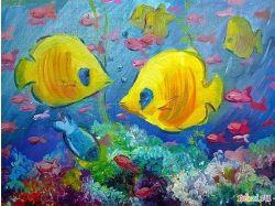 Подводный мир рисунки детские