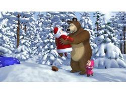 Маша и медведь новый год картинки