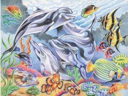 Подводный мир рисунки цветными карандашами