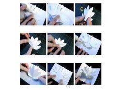 Цветы из бумаги для открытки своими руками