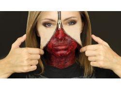 Рисунки на лице хэллоуин страшные