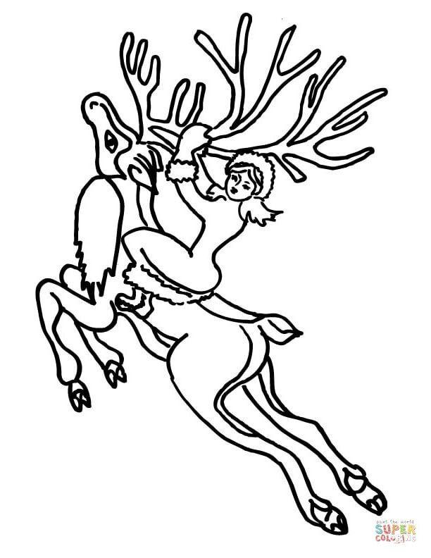Северный олень - раскраски для детей » Скачать лучшие ...