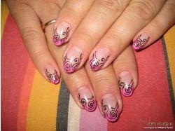 Абстракция рисунки на гелевых ногтях