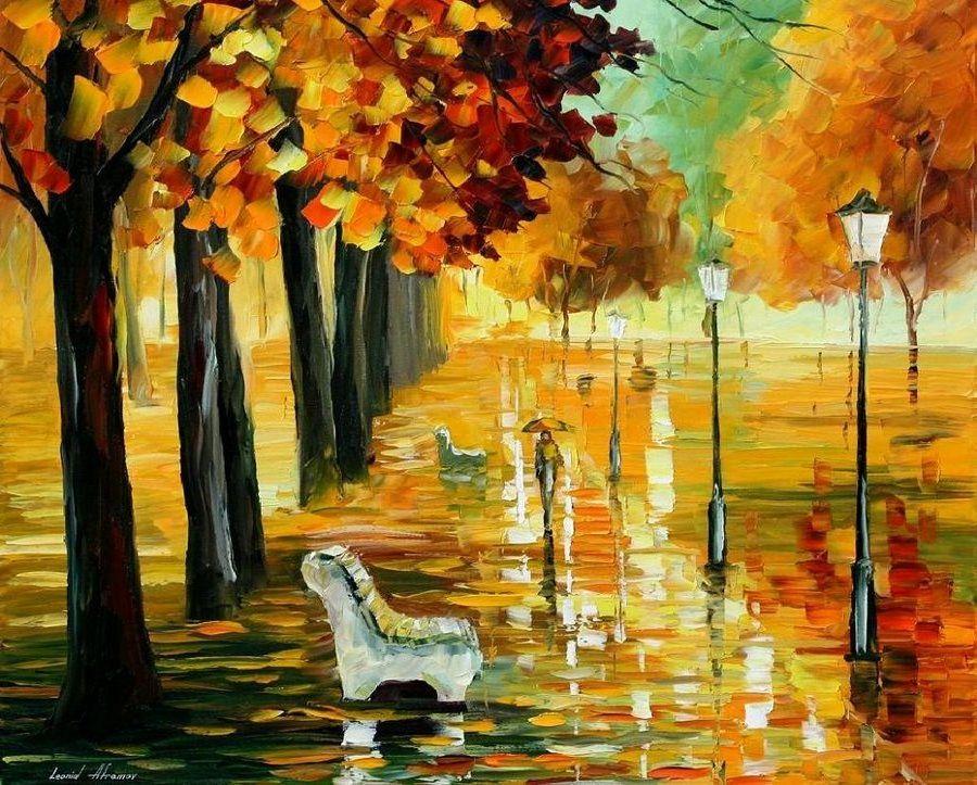 Красивые открытки, картинки про осень нарисованные