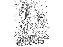 Новогодние рисунки малышей 7