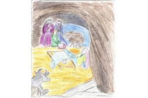 Рисунок на тему рождество христово