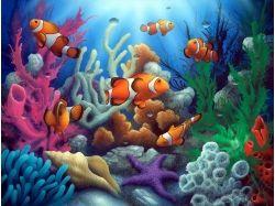 Подводный мир рисунки рисунки