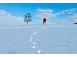 Красивый снег зимой