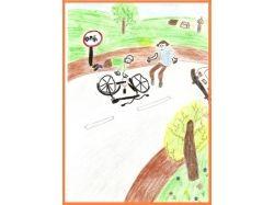 Креативные рисунки по правилам дорожного движения