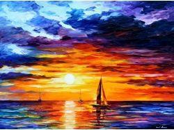 Корабли рисунки гуашью 7